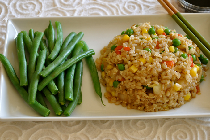 fried cauliflower and rice