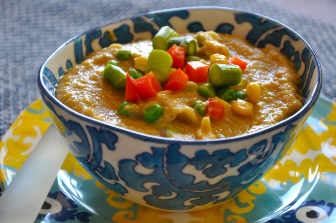 creamy chickpea miso soup