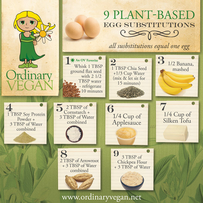 9 Plant Based Egg Substitutions